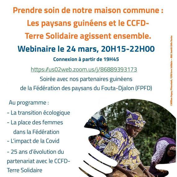 WEBINAIRE Normandie : Les paysans guinéens et le CCFD-Terre Solidaire agissent ensemble.