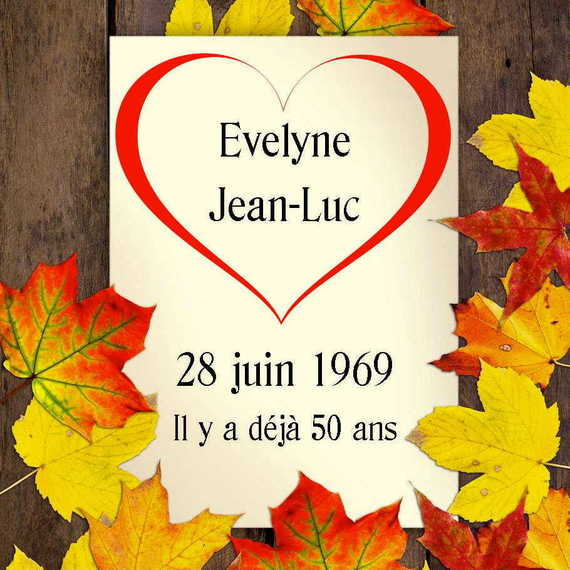 Noces d'or Evelyne et Jean-Luc